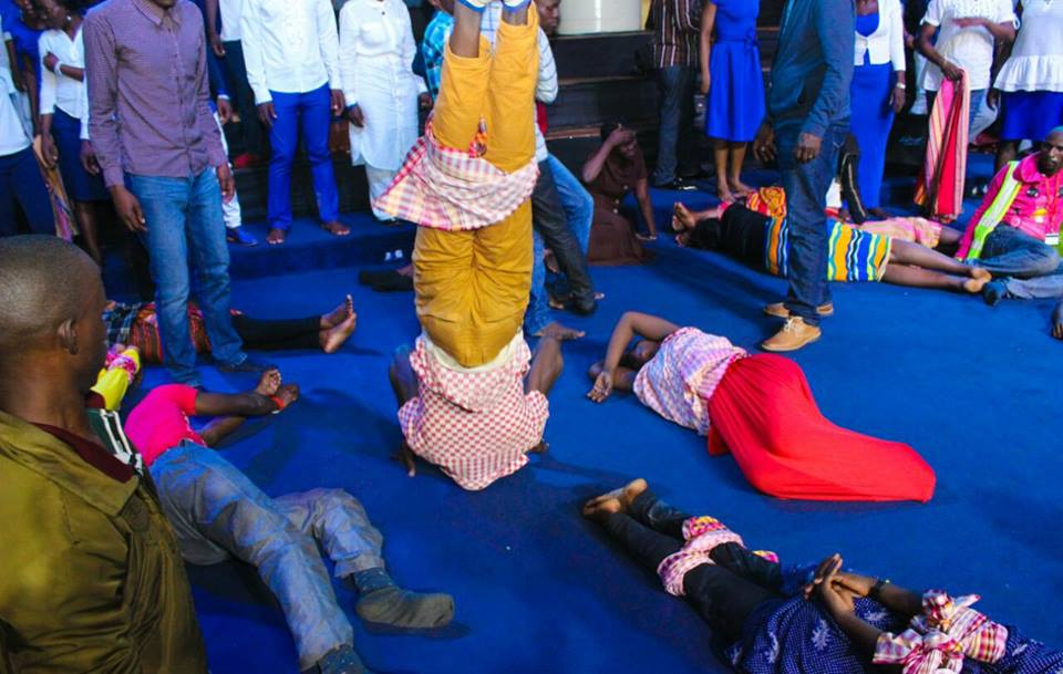 """Demonic Manifestations""; See What Happened During Prayers In A Ugandan Church"