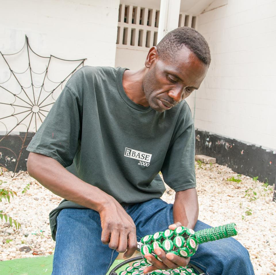 This man makes his money by picking bottle caps amp turning into wares