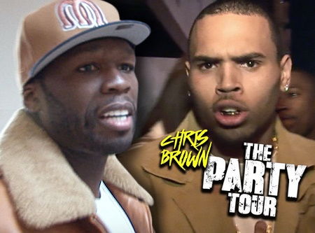 50 Cent Dumps Chris Brown's Tour Over Appearance Fee