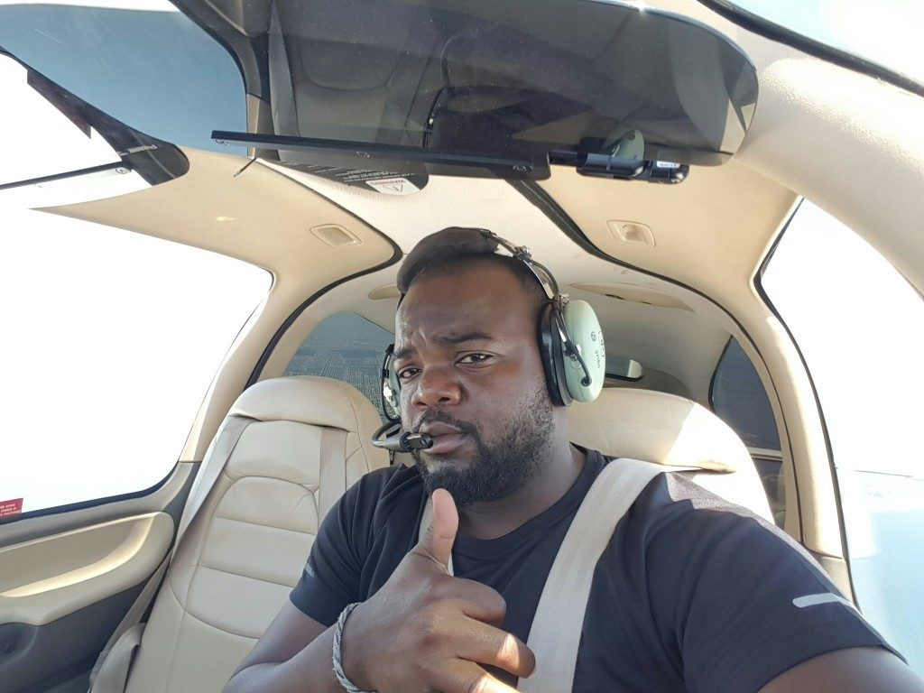 Wow! Nigerian Pilot Makes History As First African To Fly The World Solo (Photo)