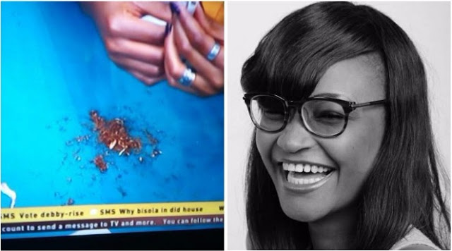 Omg! Marvis Caught Rolling Weed In The #BBNaija House? (Photos)
