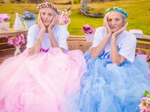 Brazilian Twin Sisters celebrate 100th Birthday with Playful Shoot (Photos)
