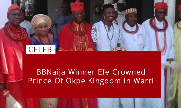 More Blessings- BBNaija Winner Efe Crowned Prince Of Okpe Kingdo In Warri