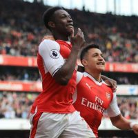 Arsenal forwards Danny Welbeck and Alexis Sanchez