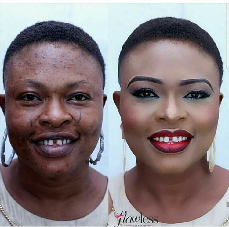 Wow! Makeup Transformation Of This Nigerian Lady Will Leave You Speechless (Photos)