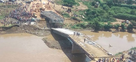 Wonder! $12million Bridge Collapses Just Two Weeks After Presidential Inspection (Photo)