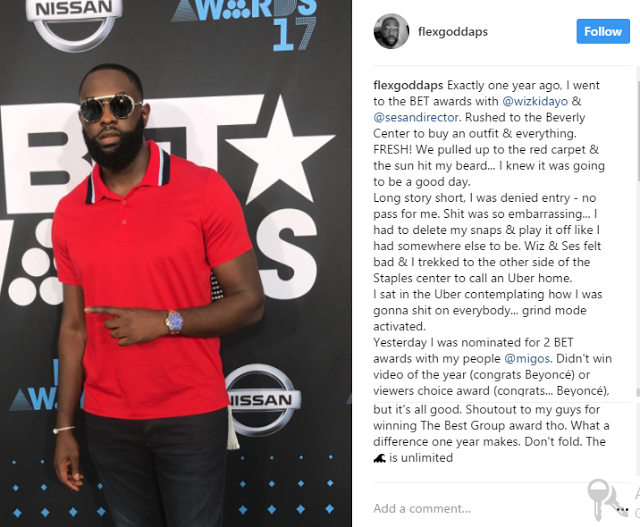 Nigerian Cinematographer 'Daps' Recounts How He Was Bounced At The BET Last Year