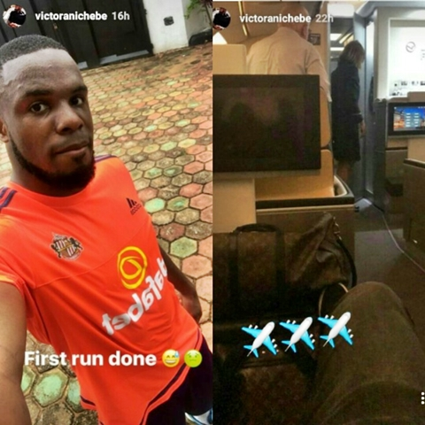 OMG! Victor Anichebe Encounters a Python in His Hometown, Anambra (Photos)