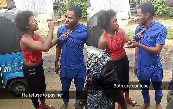 Gobe! Lady Disgraces Man Who Refused To Pay After Banging Her Overnight (Photos)