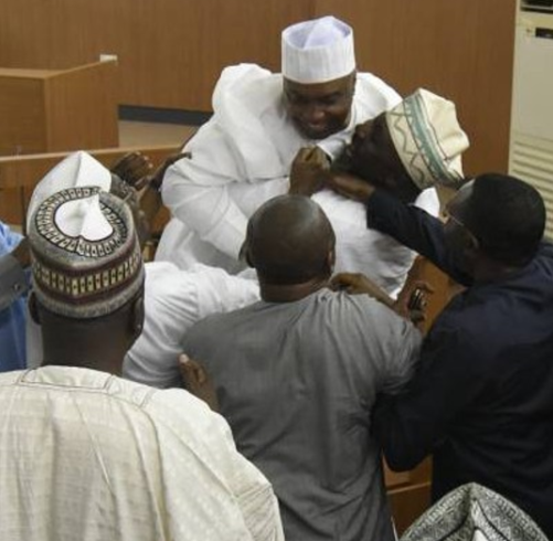 Excited Dino Melaye Lifts Up Bukola Saraki After CCT Cleared Him Of All False Asset Declaration