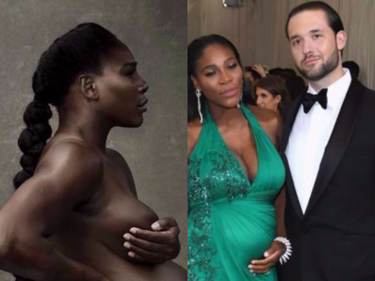 Ahhhhh! Pregnant Serena Williams Goes Completely Nude (18+Photos)