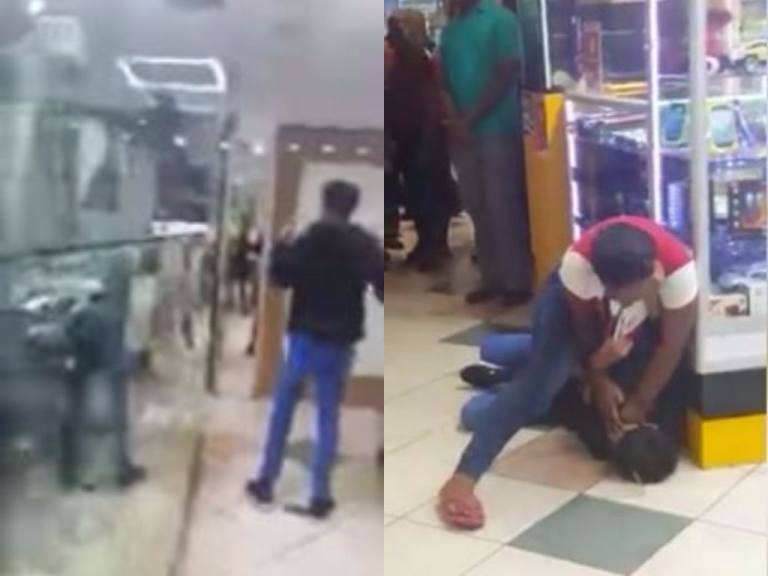 Watch Viral Video of a Lady Who Gave a Man the Beating of His Life