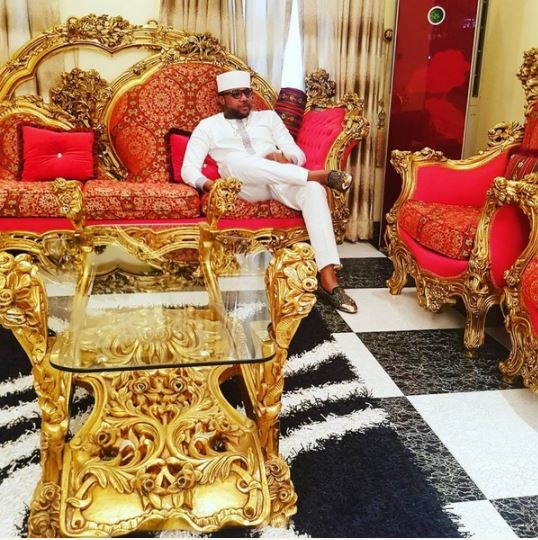 See Photos Of E-Money Shows Off His Golden Sitting Room
