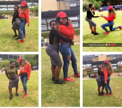 End Time! Nigerian Lesbian Proposes To Her Girfriend (Photos)