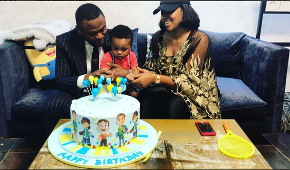 Ubi Franklin And Lilian Esoro Reunite To Celebrate Their Son Birthday (Photo/ Videos)