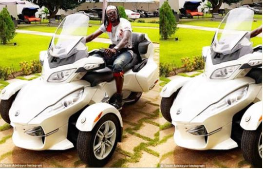 See Photos Of Emmanuel Adebayor's N8m Can-Am Bike & Cars in His Compound