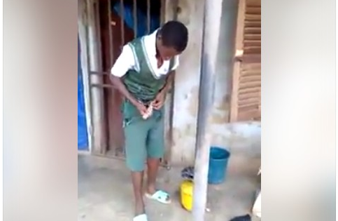 VIDEO: JSS Student Sneaks Into Female Corper Teacher's Room To Ask For Sex - Watch