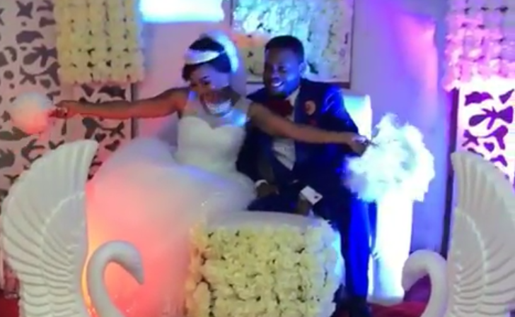 Say What? Watch Video From Tonto Dikeh's Wedding Ceremony With Her New Man