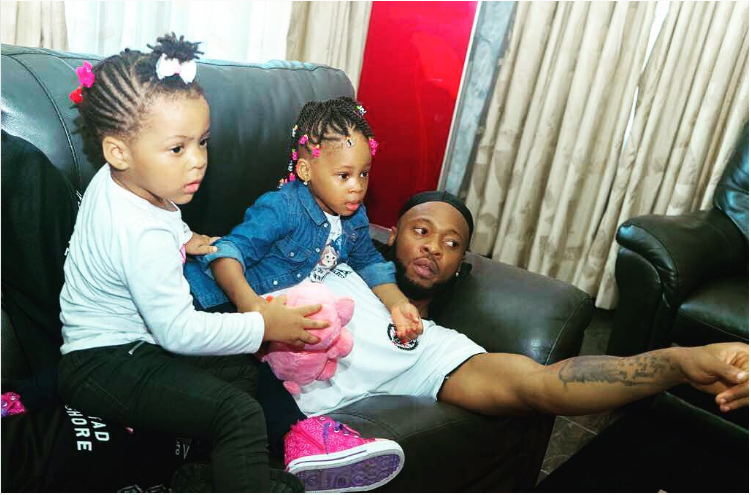 Check out This Adorable Photo Of Flavour And His Daughters
