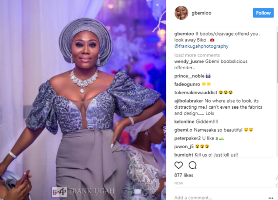 OAP Gbemi Olateru's Outfit Got The Media Buzzing (Photos)