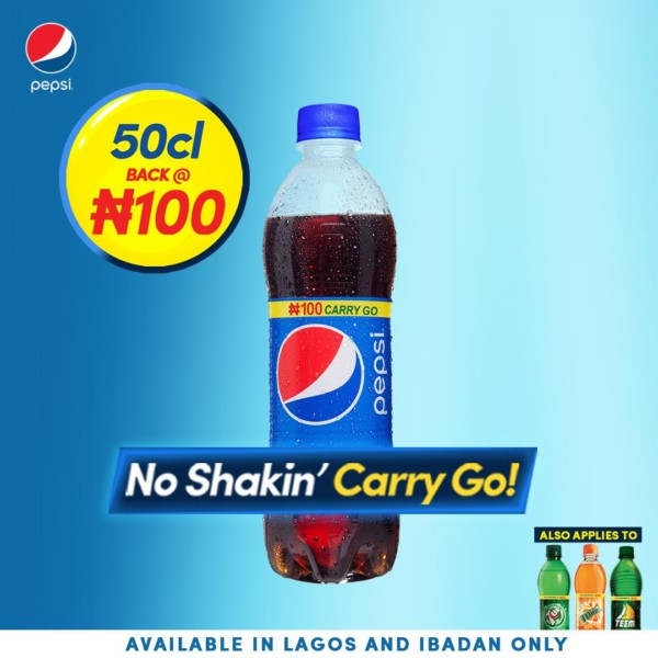 Its Official! Pepsi reduces 50cl Bottle Price From ₦150 to ₦100