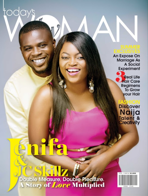 Funke Akindele & Husband, JJC Skillz Cover Today's Woman Magazine (Photos)