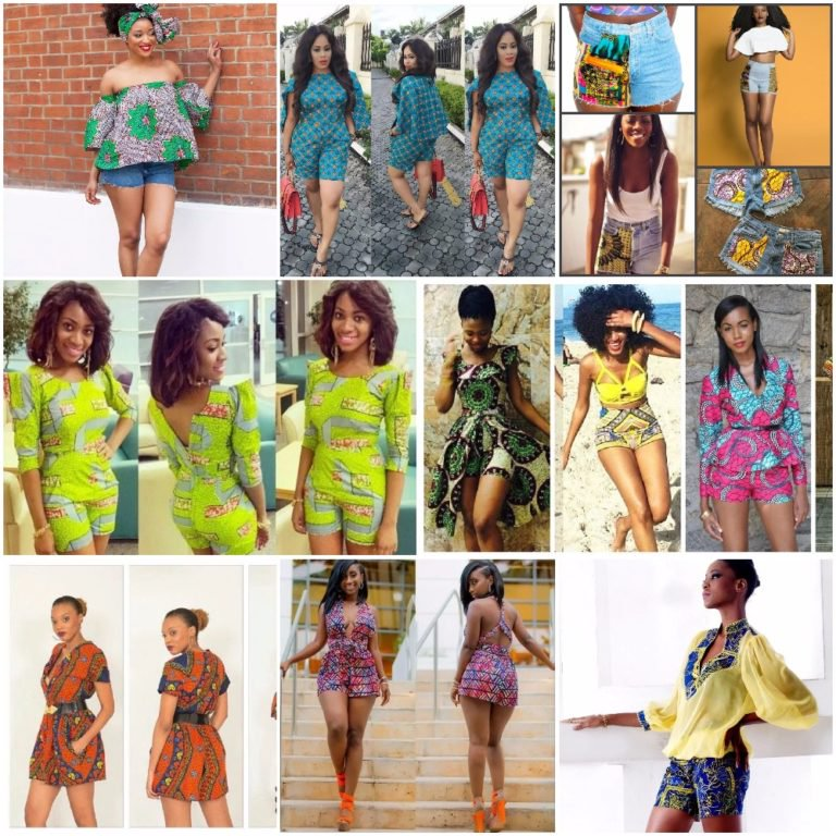 Checkout these 25 Ankara shorts and tops Design 2017 (Photos)