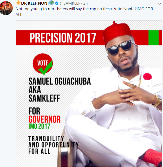Samkleff Joins The Political Race, Declares To Be Governor Of Imo State (Photo)