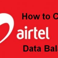 check your airtel data balance
