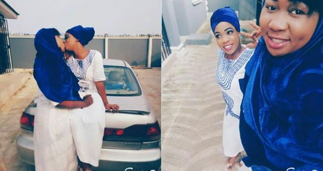 A Nigerian Lady Has Thrown Caution To The Winds As She Took To Facebook To Show Off Her Partner Who She Tagged Her Main Puy As She Was Pictured Kissing