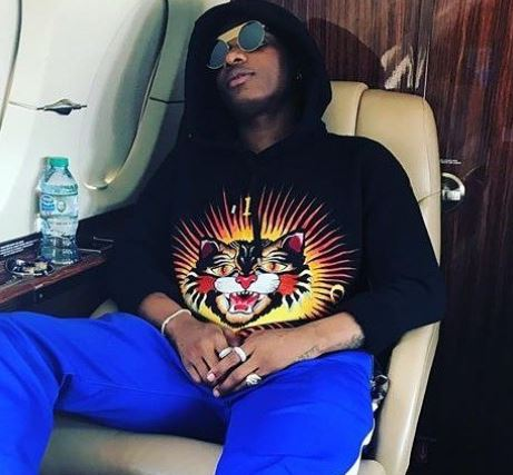 Pictures Of Wizkid On A Private Jet As He Flies Out To London