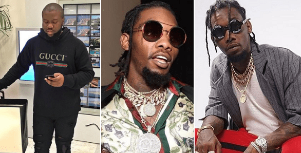 Move Aside Hushpuppi! Gucci Gifts Migos's Offset With 30% Discount On Their Wares For LIFE!!