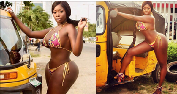 Lady Who Caused Serious Hold-Up In Lekki Phase 1 Lagos In The Name Of Photoshoot In The Middle Of The Road Releases The Photos (I8+)