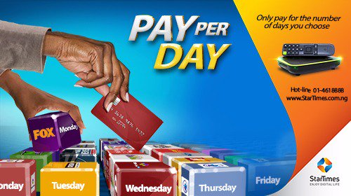 The Competition is Real!! StarTimes Introduce Pay Per Day, Weekly and Monthly Subscription Plans For N60 Only