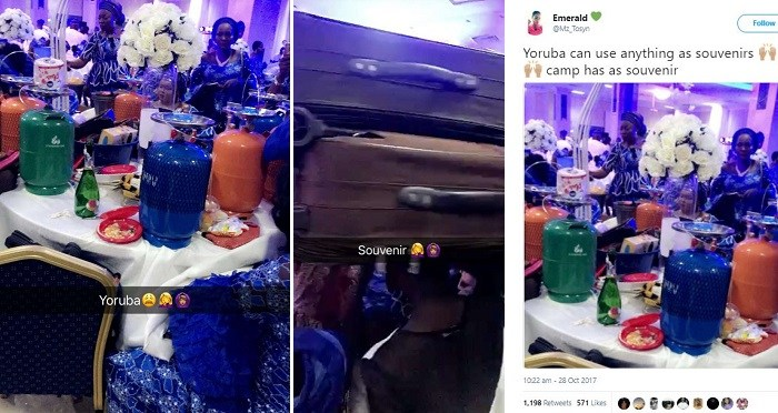 Checkout Souvenirs Shared at a Nigerian Wedding That Got People Talking (Photos)