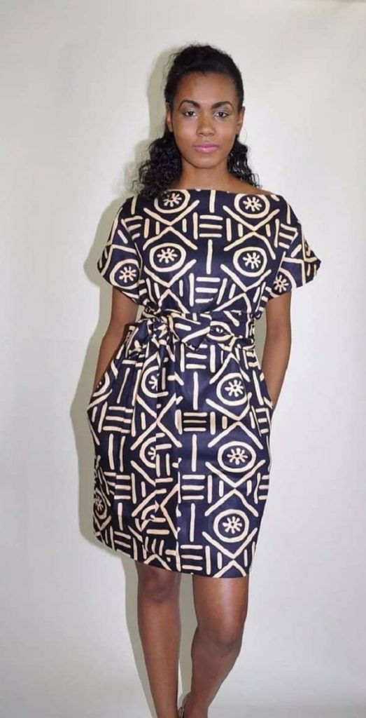 Ankara straight dresses with raglan sleeves