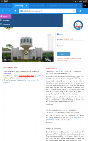 UI Change of Course Form 2017/2018 Released