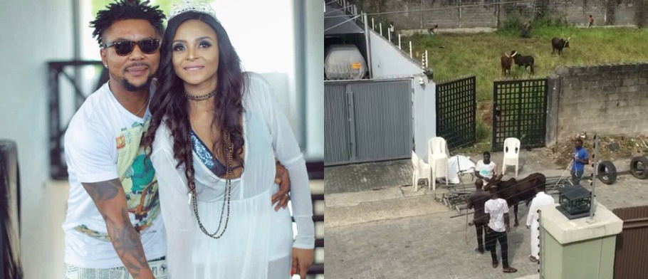 See The Four Cows Oritsefemi And Wife Would Be Killing For Their Wedding