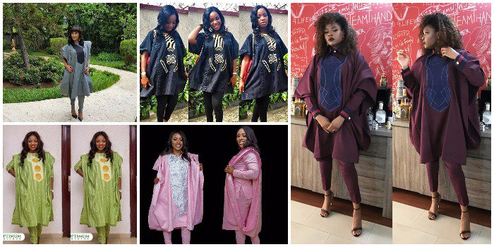 See These Eye-Catching Agbada Styles Trend For Beautiful Ladies (Photos)