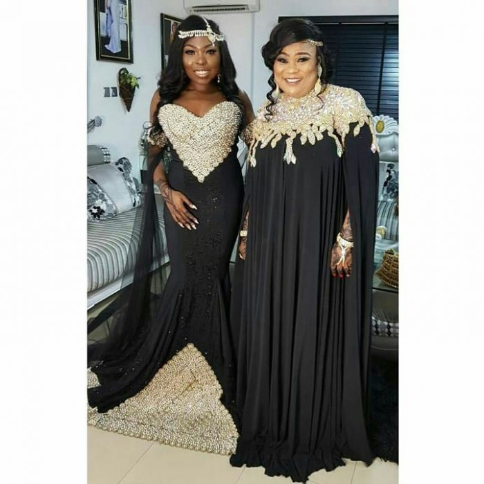 """Sola Sobowale & Her Daughter Step Out For """"The Wedding Party 2"""" Premiere"""
