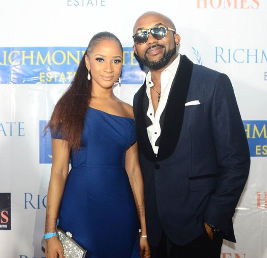 Banky W And His Wife Adesua Wellington Glows As They Attends An Event Together