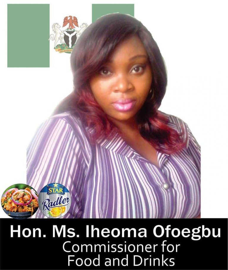 Meet the Honourable Commissioner for Foods and Drinks (Photo)