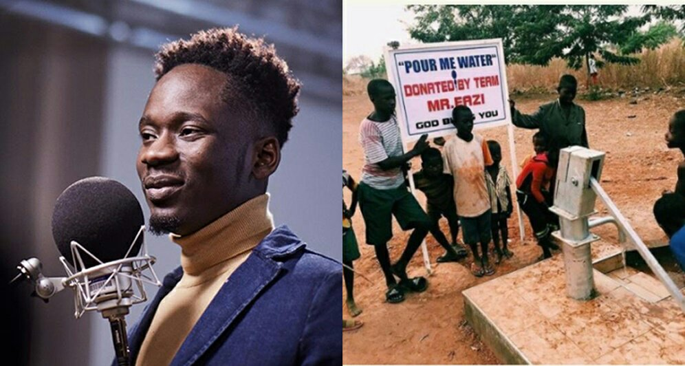 Mr Eazi Constructs Borehole For A Village To Promote Song, 'Pour Me Water'