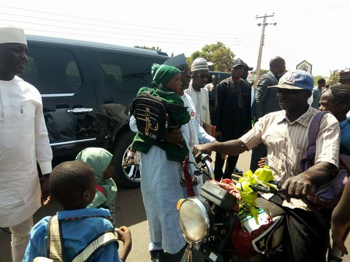 This Is What Nasarawa Governor Did After Meeting Okada Man Carrying 5 Children On One Bike