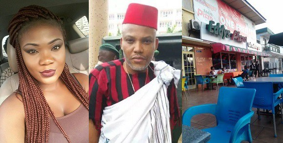 'I Saw IPOB Leader Nnamdi Kanu In Ghana Buying Pizza' – Igbo Lady Says (Photos)