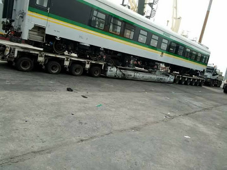 High speed trains arrive Nigeria from China (Photos)