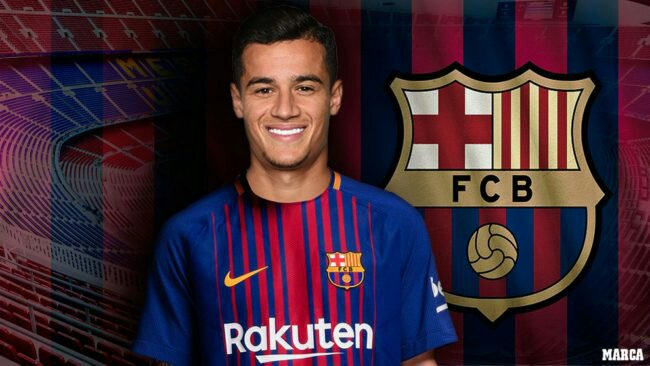New Barça Signing Coutinho Out For Three Weeks Due To Injury