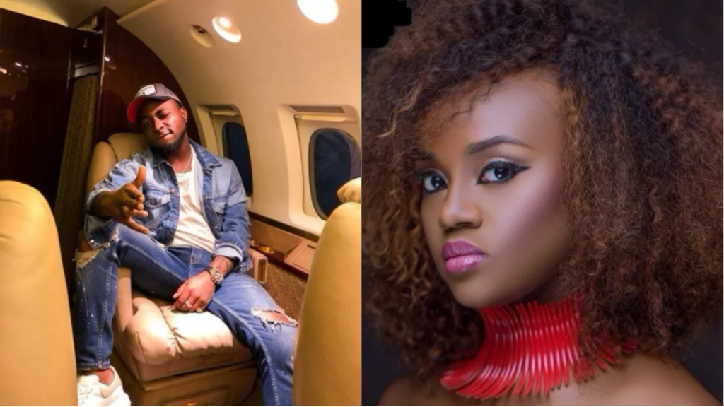 Davido spotted yet again splashing cash on his girlfriend Chioma, asked her to give him a Baby Boy (Photos)