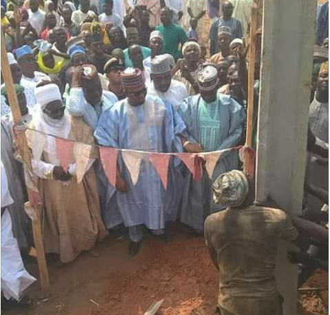 Photos Of Senator At He Commissions Electric Pole In His Constituency (Share Your Thoughts)