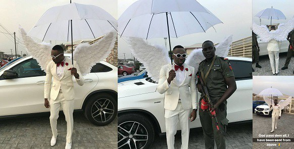 """Pretty Mike Steps out Like an """"Angel"""" for a Wedding in Lagos (Video)"""